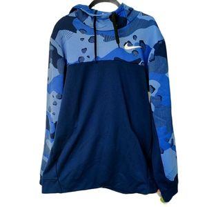 Nike Dri-Fit Blue Camouflage Sweatshirt Large